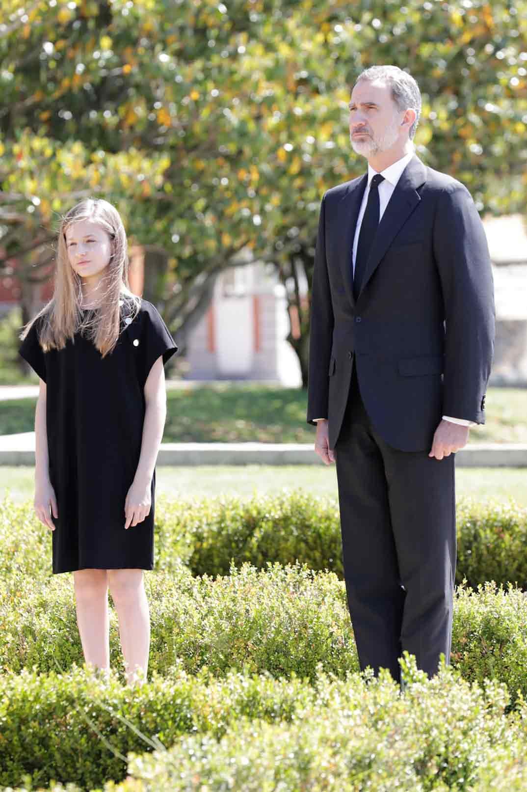Princesa Leonor y Rey Felipe VI © Casa S.M. El Rey