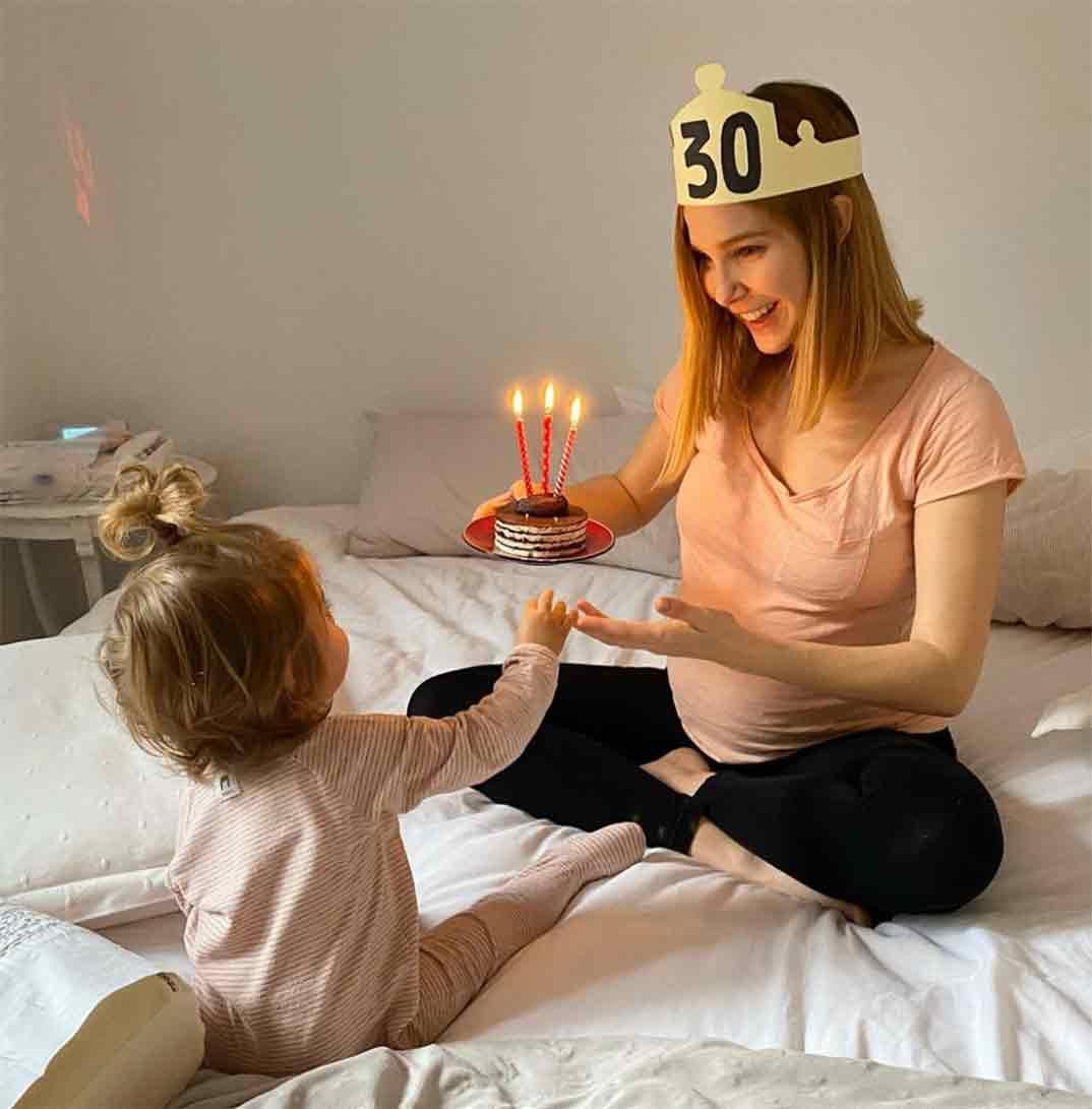 Natalia Sánchez con su hija Lia © Instagram