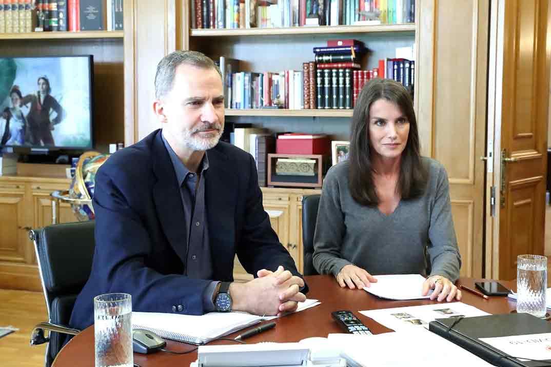 Los reyes Felipe y Letizia se reúnen con David Bisbal, José Mercé y Miguel Poveda