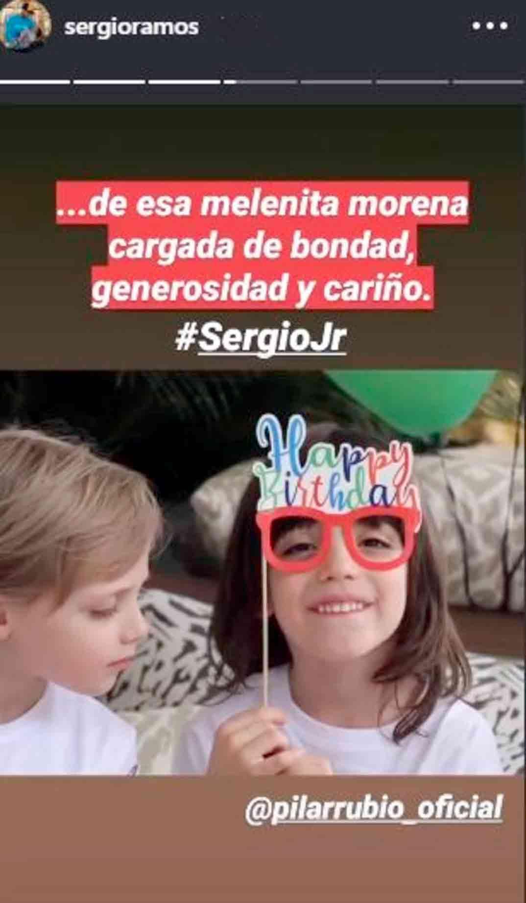 Sergio Ramos hijo cumple © Redes Sociales