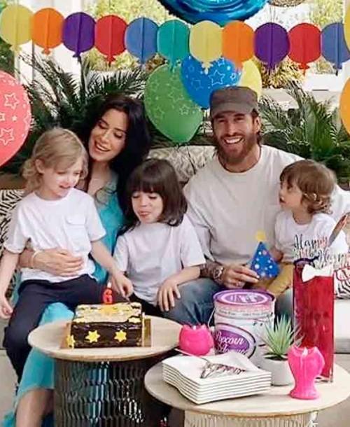 Así han celebrado Sergio Ramos y Pilar Rubio el cumpleaños de Sergio Jr.