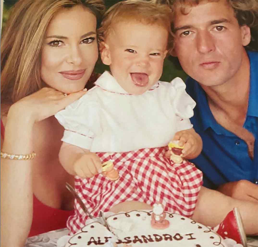 Ana Obregón, Alessandro Lequio y Alex Lequio © Instagram