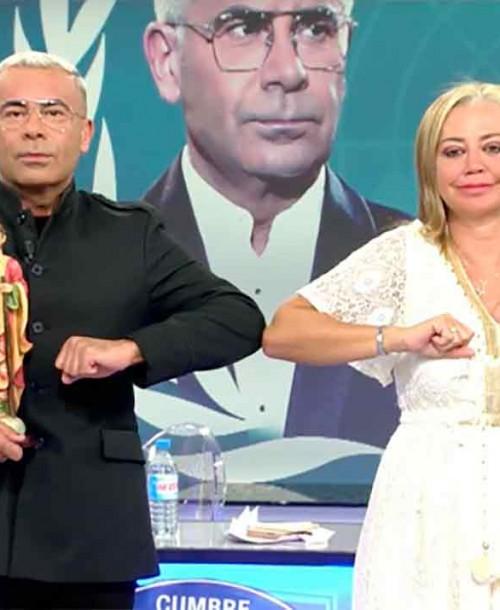 El tenso y esperado reencuentro entre Belén Esteban y Jorge Javier Vázquez