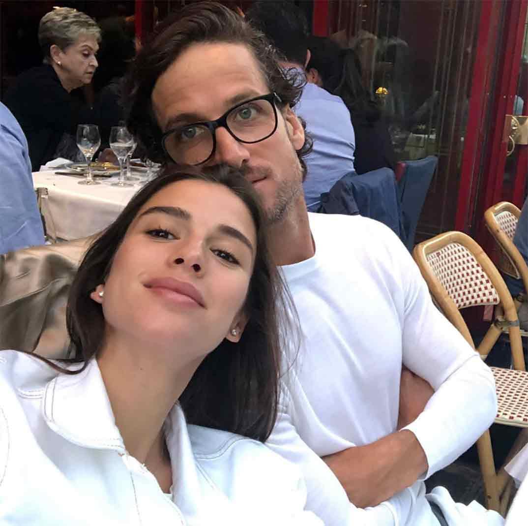 Feliciano López y Sandra Gago © Instagram