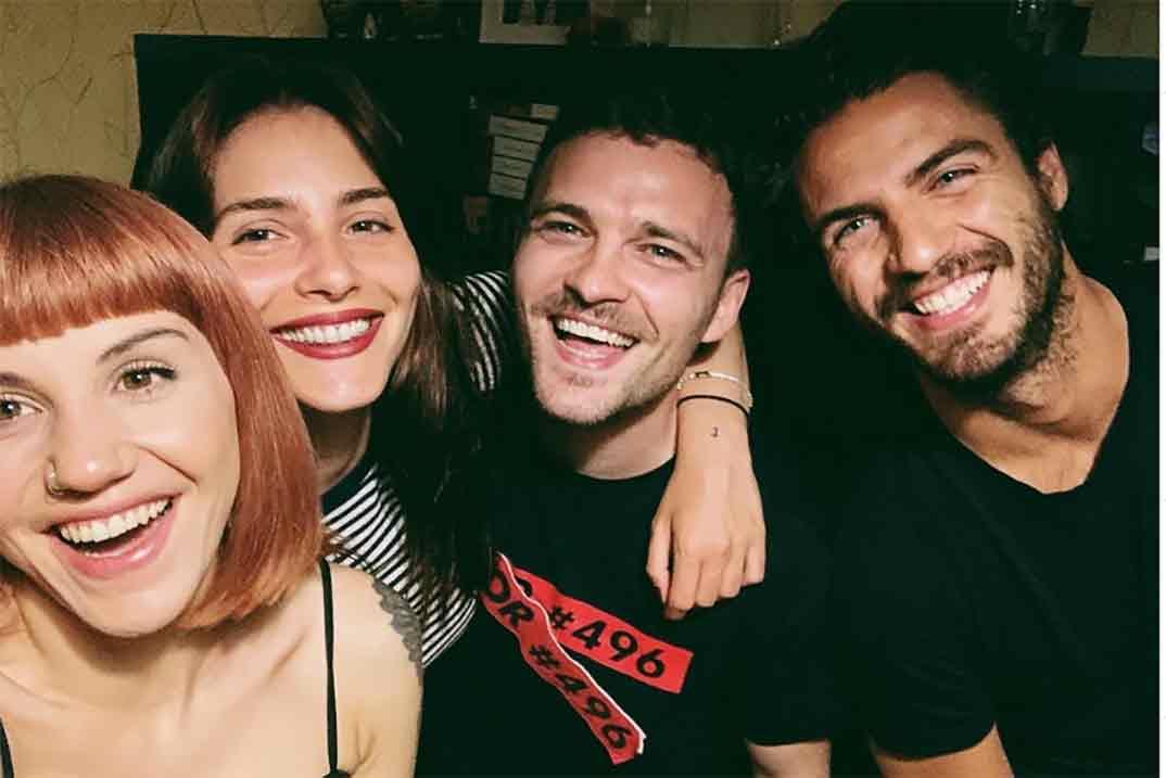 Andrea Duro, Angy Fernández, Maxi Iglesias y Adam Jezierski © Instagram