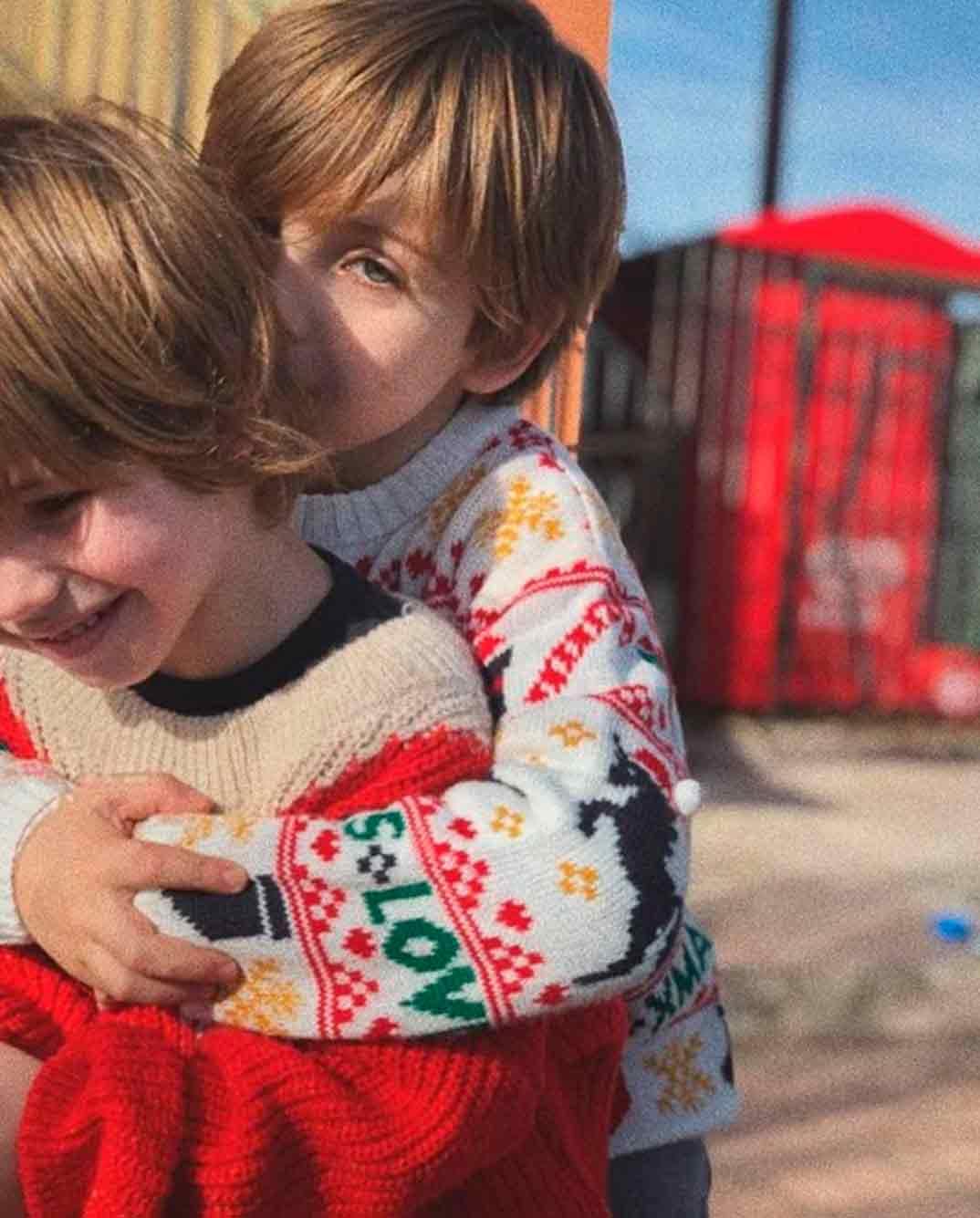 Martín y Lucas, hijos Iker Casillas y Sara Carbonero © Instagram