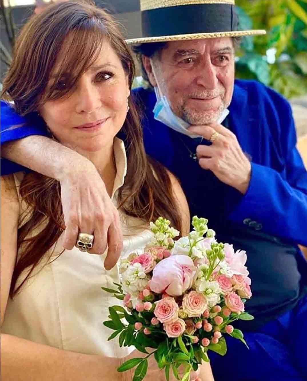 Joaquín Sabina y Jimena Coronado © Redes Sociales