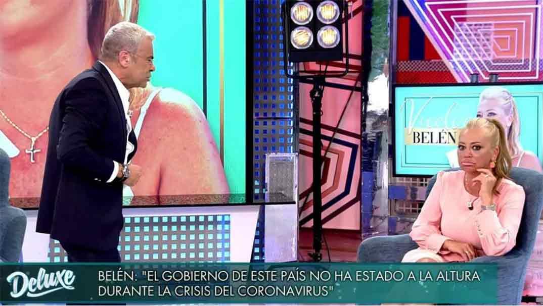 Belén Estaban y Jorge Javier Vázquez - Sálvame Deluxe © Telecinco
