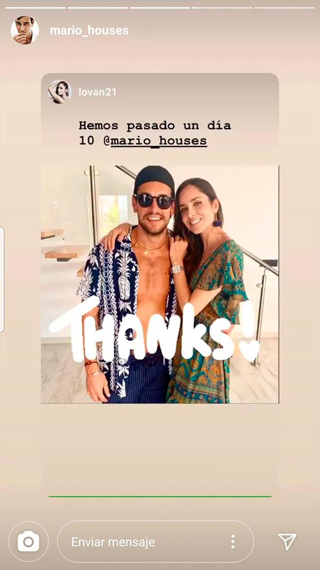Mario Casas y Lorena Van Heerde © Instagram