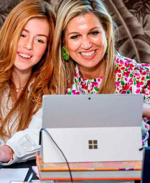 Máxima de Holanda preocupada por el polémico video viral de su hija Alexia