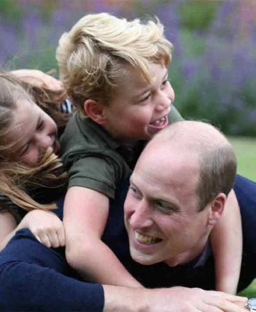 Las simpáticas imágenes del príncipe Guillermo con sus hijos para celebrar su cumpleaños