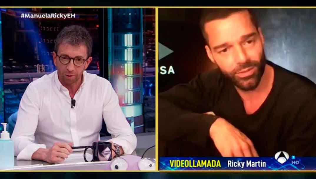 Ricky Martin y Pablo Motos - El Hormiguero © Antena 3