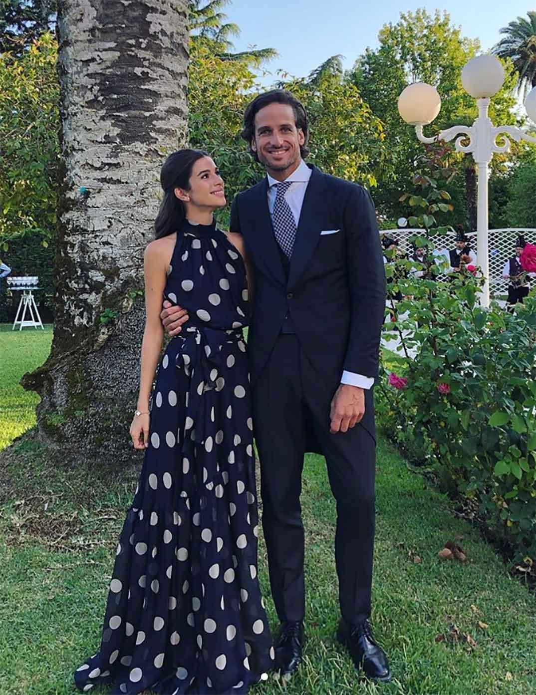 Sandra Gago y Feliciano López © Instagram