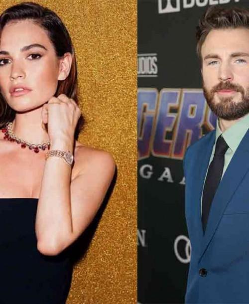 Lily James y Chris Evans… ¿Nueva pareja sorpresa en Hollywood?