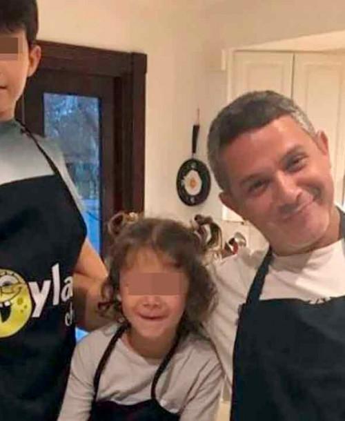 El emotivo reencuentro de Alejandro Sanz con sus hijos