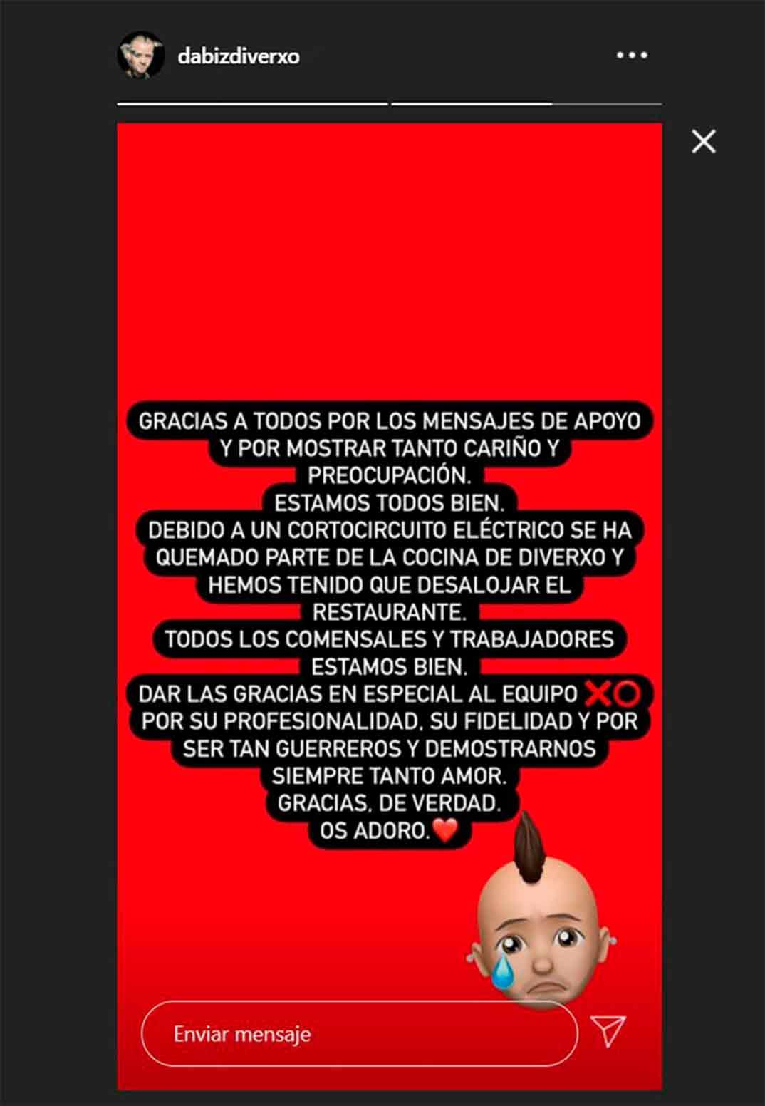 David Muñoz © Redes Sociales