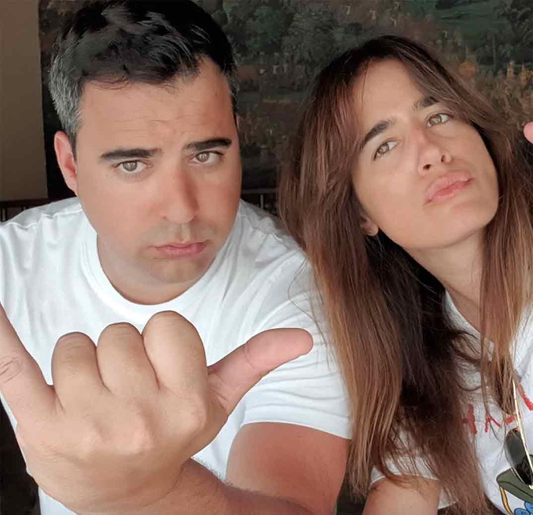 Isabel Jiménez y su marido Alejandro Cruz © Instagram