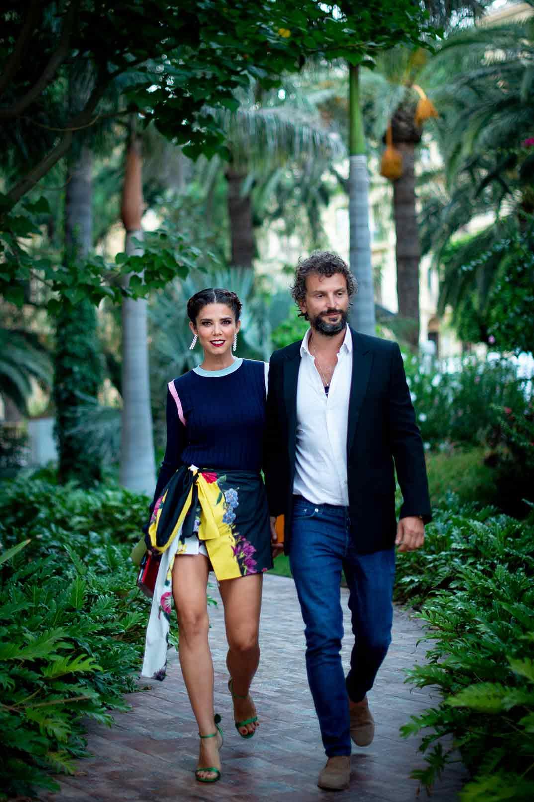 Juana Acosta con su novio © Festival de Cine de Málaga