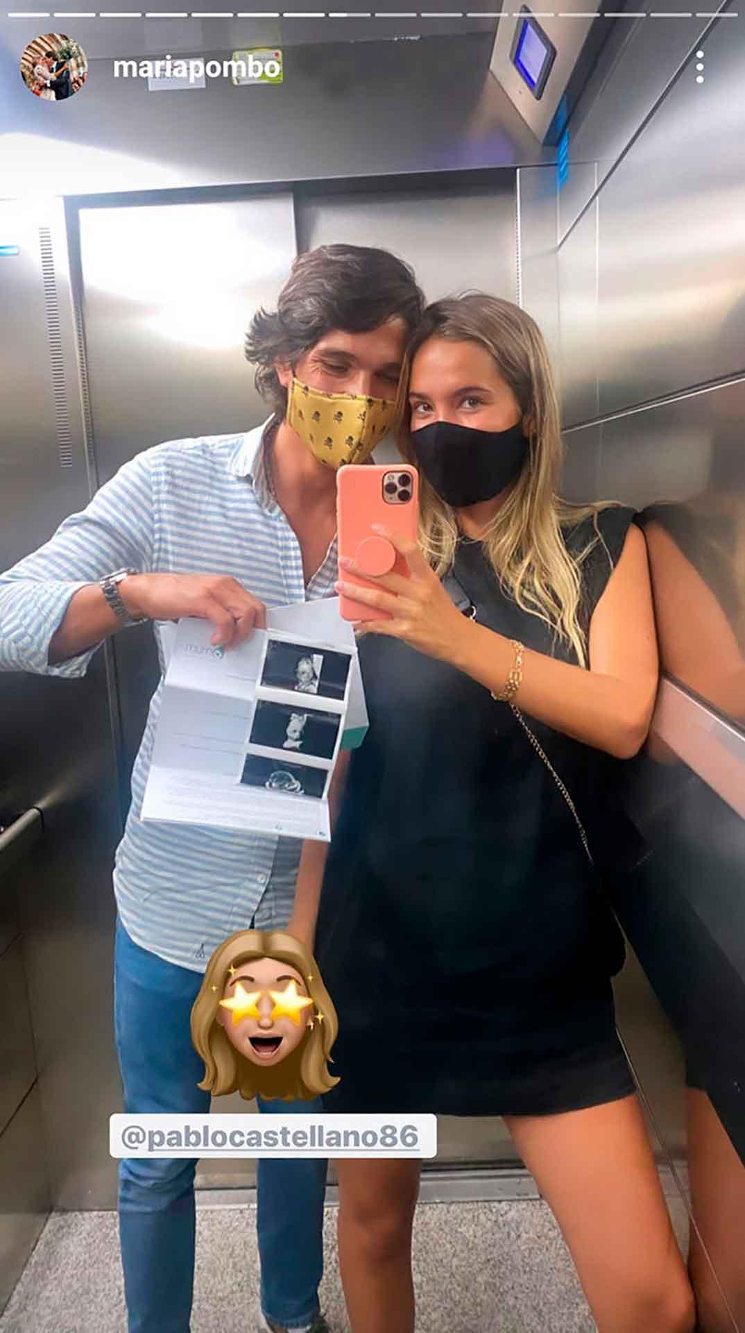 Maria Pombo y Pablo Castellano © Instagram