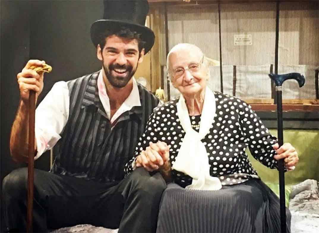 Miguel Ángel Muñoz y su tata Luisa © Instagram