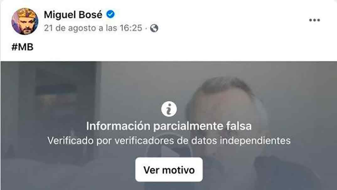Miguel Bosé © Facebook