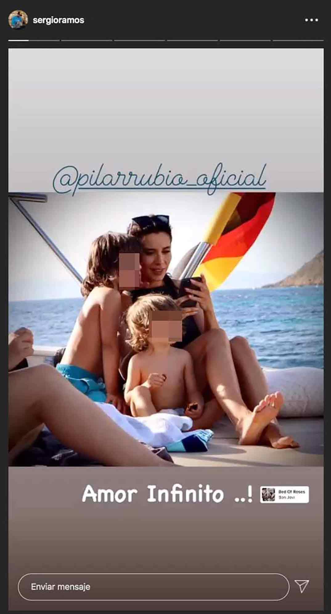 Pilar Rubio y Sergio Ramos © Instagram