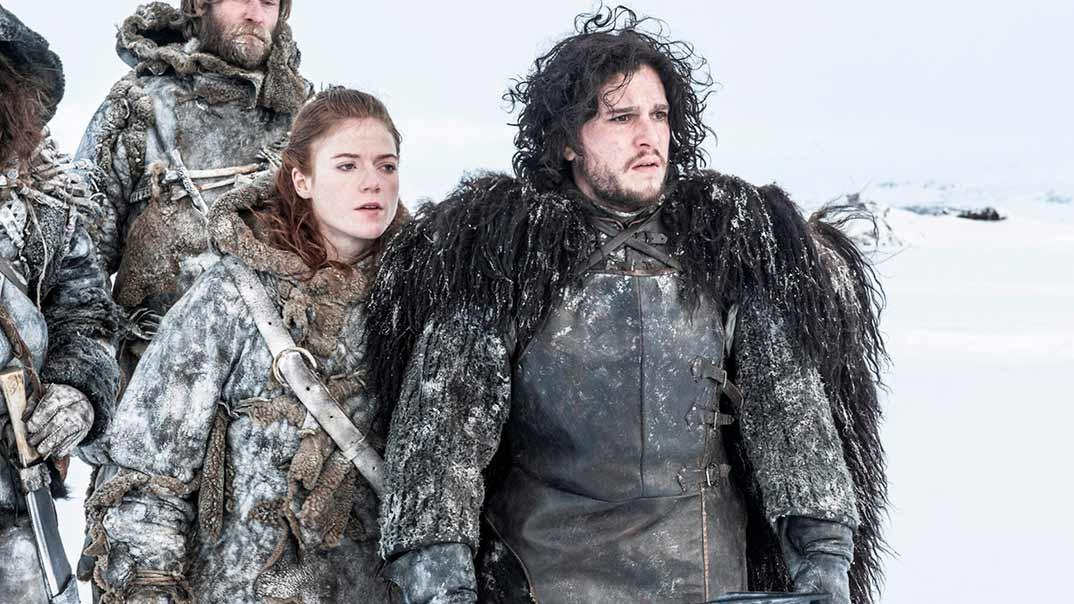 Rose Leslie y Kit Harington - Juego de Tronos © HBO