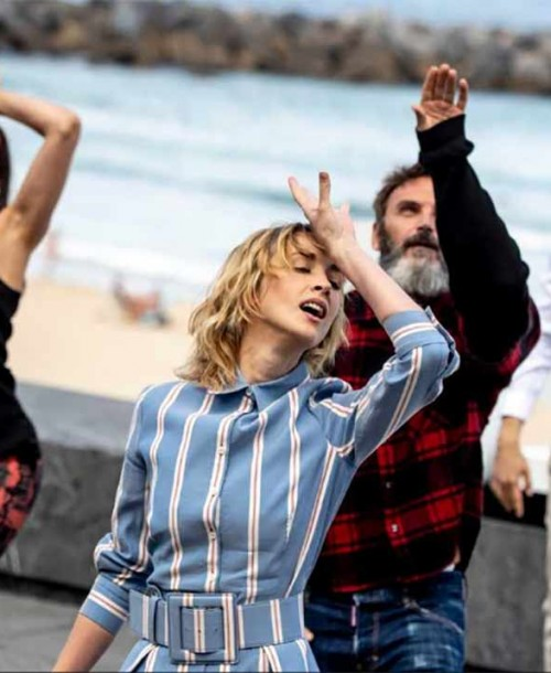 Los actores de 'Explota, explota' conquistan San Sebastián con mucho ritmo
