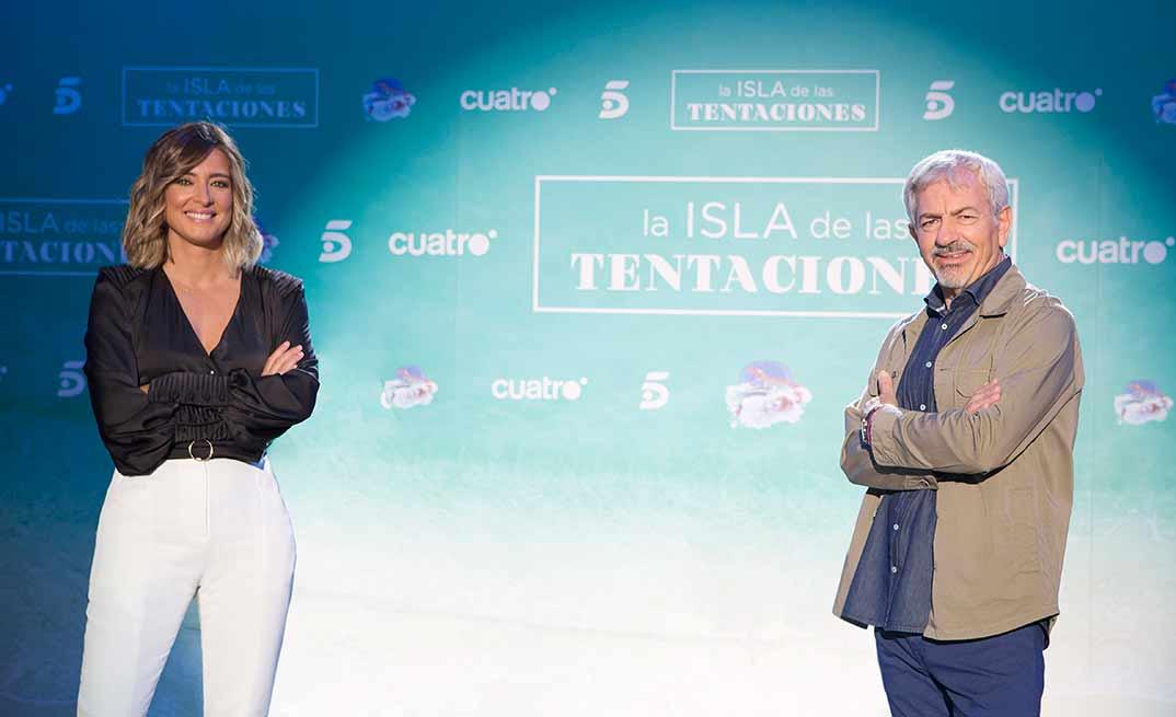 Sandra Barneda y Carlos Sobera La Isla de las Tentaciones © Mediaset