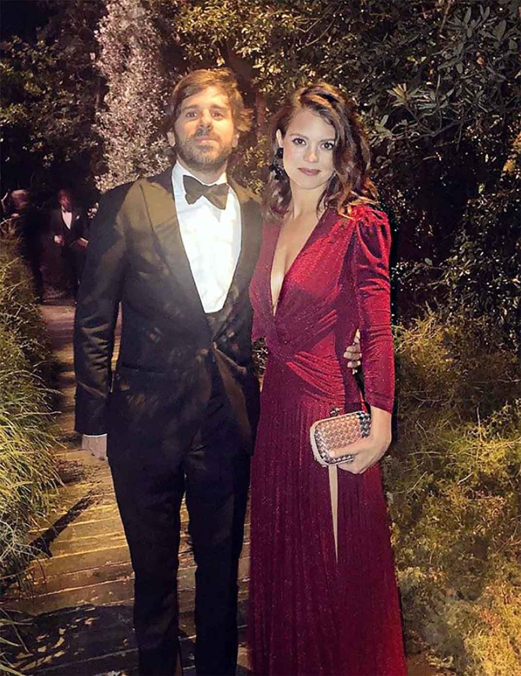 Álvaro Falcó e Isabelle Junot en la boda de Marta Ortega y Carlos Torreta © Redes Sociales