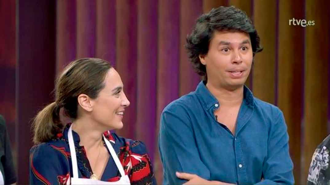 Tamara Falcó y Álvaro Falcó en MasterChef Celebrity © RTVE
