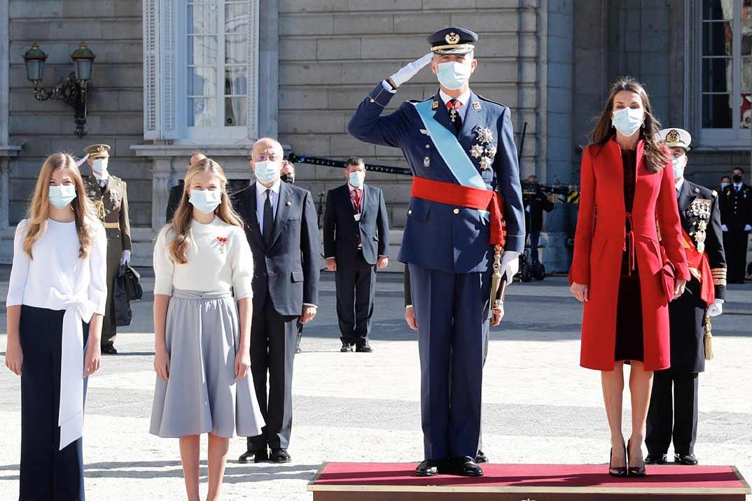 Reyes Felipe y Letizia, princesa Leonor e infanta Sofía - Día de la Fiesta Nacional © Casa S.M. El Rey