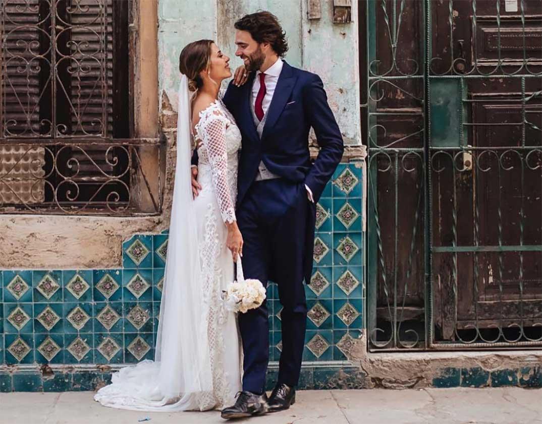 Elena Tablada y Javier Ungría - boda diciembre 2018 © Instagram