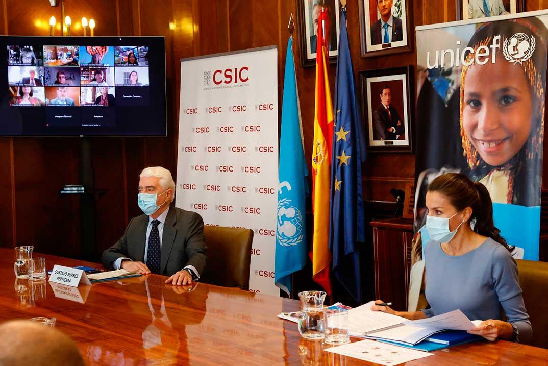 Reina Letizia - Reunión UNICEF © Casa S.M. El Rey
