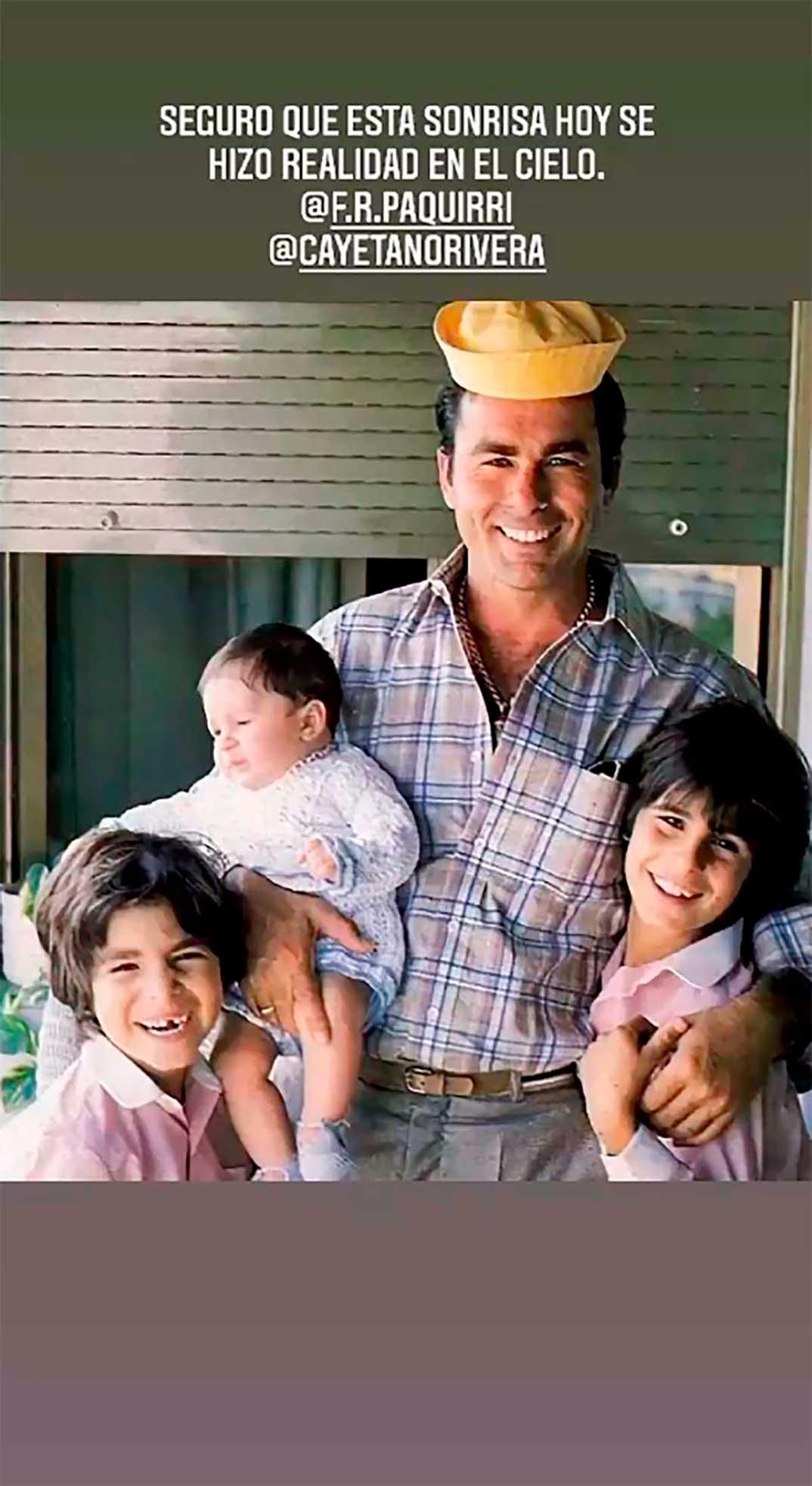 Kiko Rivera, Francisco Rivera, Cayetano Rivera con su padre © Instagram