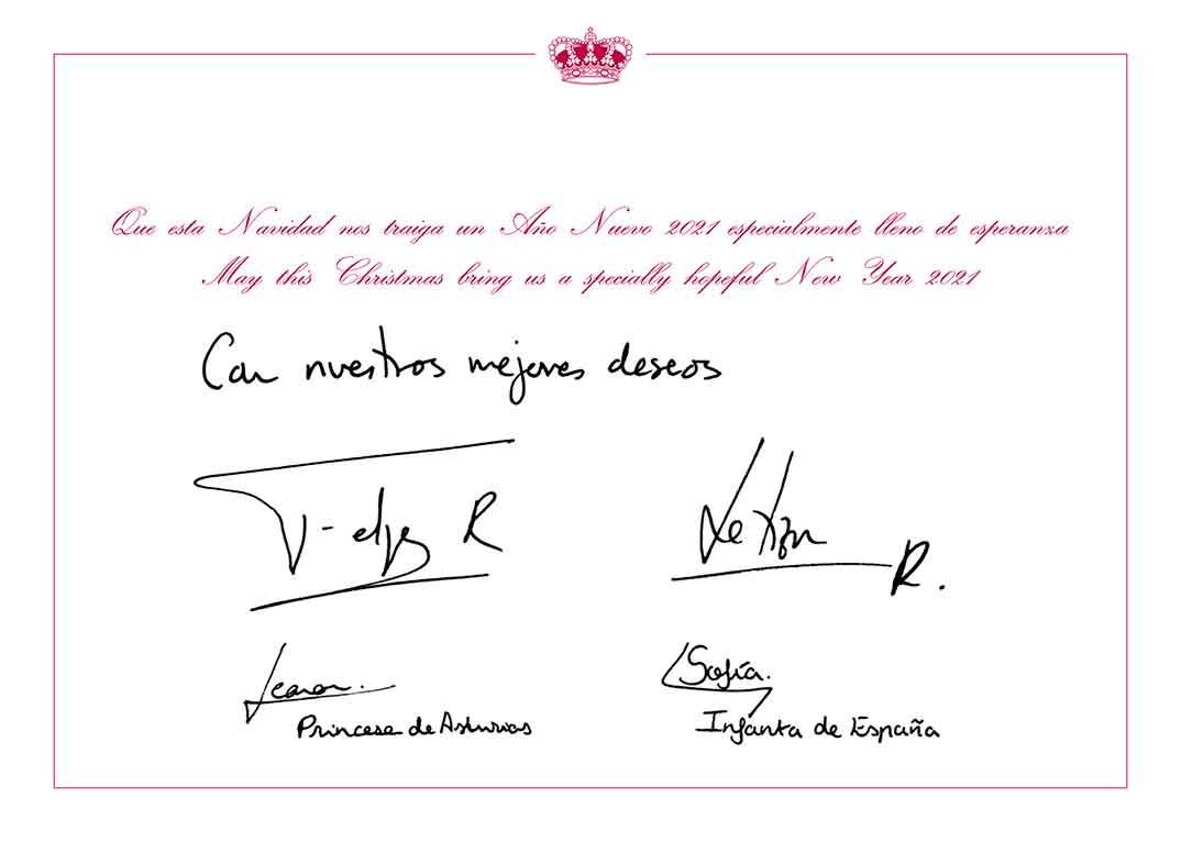 Felicitación Navideña- Reyes Felipe y Letizia y sus hijas Leonor y Sofía © Casa S.M. El Rey
