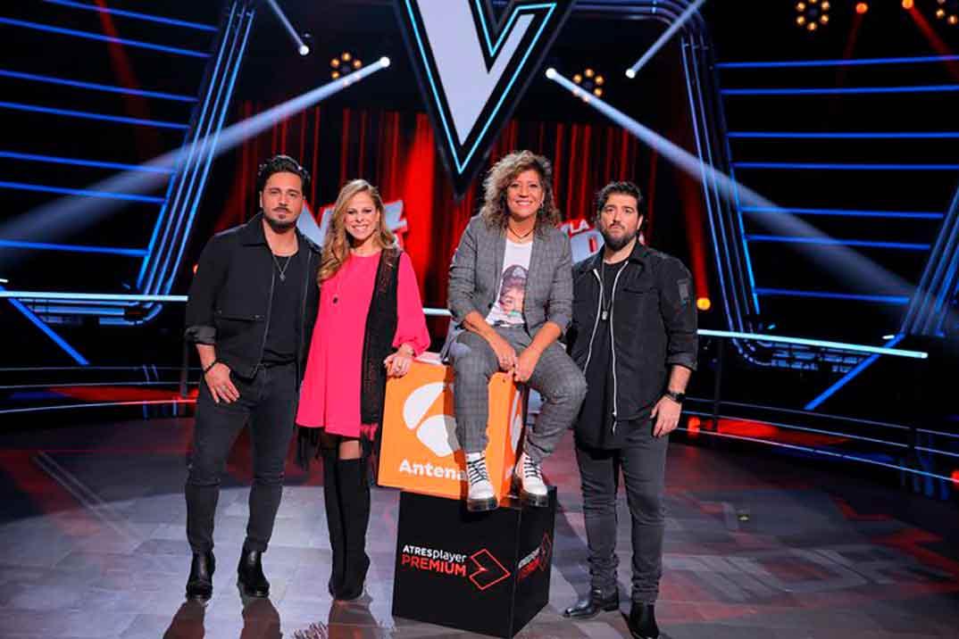 David Bustamante, Rosana, Pastora Soler y Antonio Orozco - La Voz Senior © Antena 3