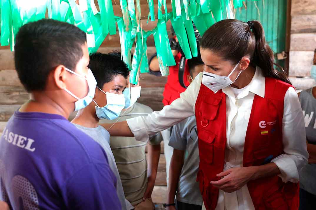 Reina Letizia - Visita humanitaria Honduras © Casa S.M. El Rey