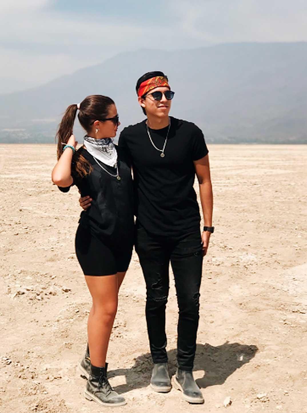 Manuela Sánchez y su novio © Redes Sociales