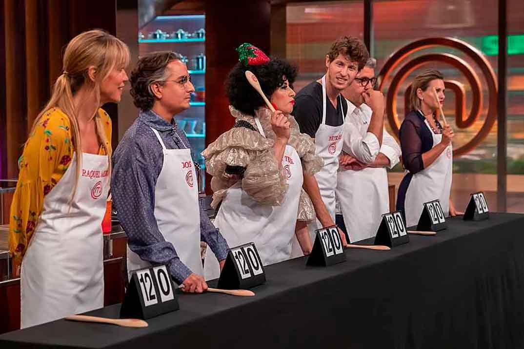 Raquel Meroño, Josie, Florentino Fernández, Nicolás Coronado y Ainhoa Arteta - Finalistas MasterChef Celebrity 5 © RTVE