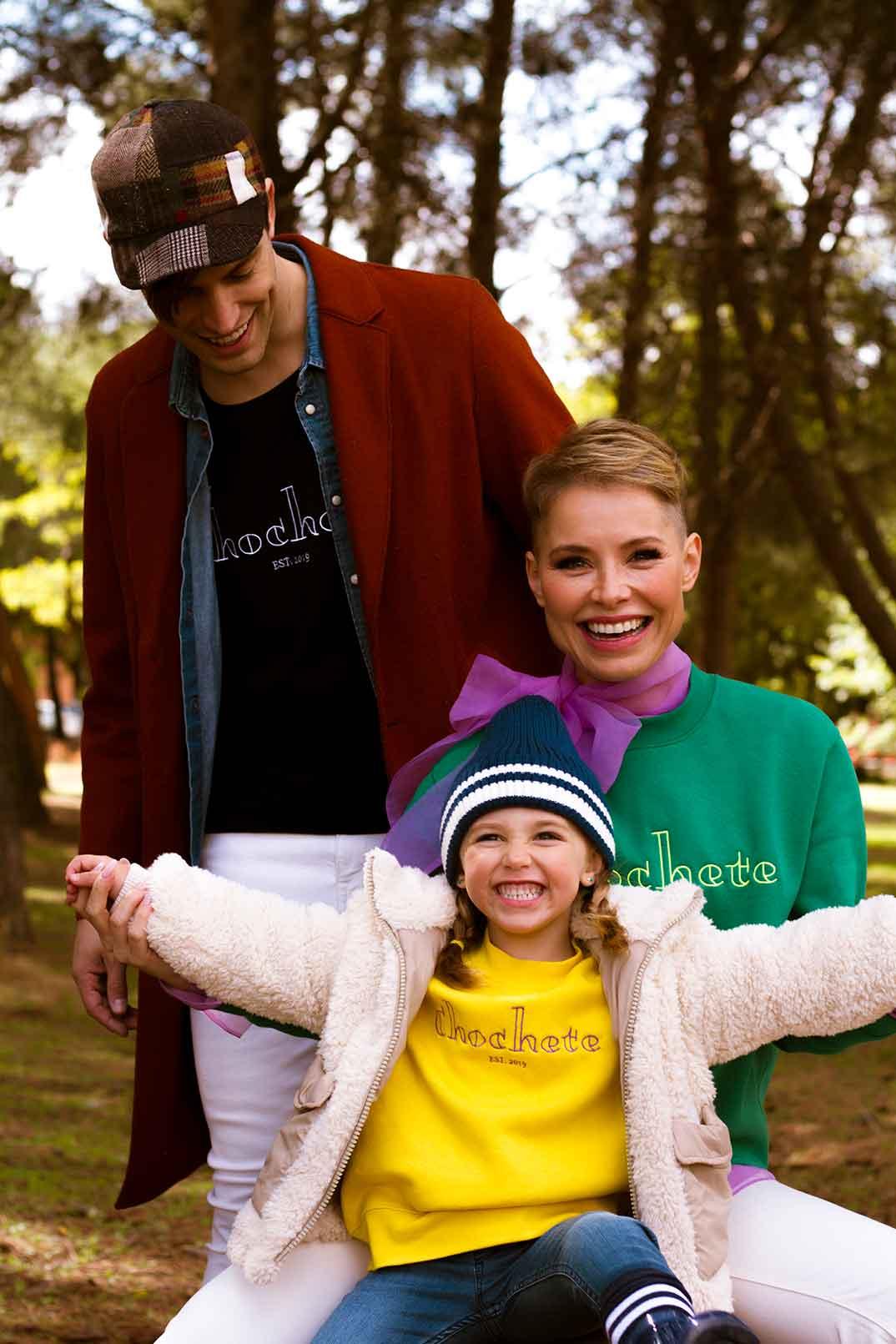Soraya Arnelas y Miguel Ángel Herrera con su hija Manuela