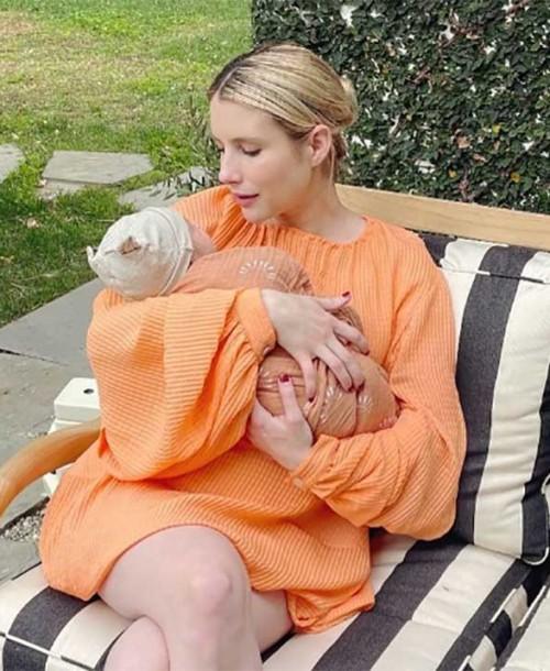 Emma Roberts comparte la primera imagen de su hijo Rhodes