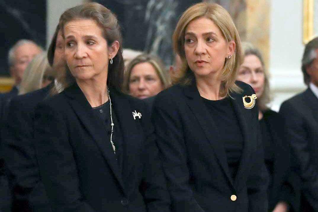 Las infantas Cristina y Elena serán las más ricas tras heredar 1.800 millones