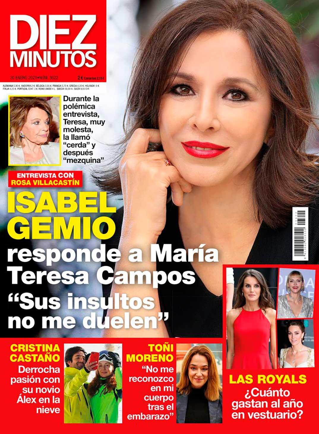 Isabel Gemio -Revista Diez Minutos