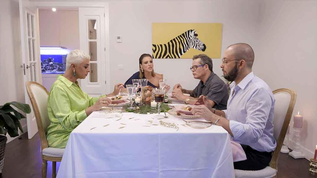 Ana María Aldón, María Jesús Ruíz, Jorge Sanz y José Antonio Avilés - Ven a cenar conmigo Gourmet Edition © Telecinco