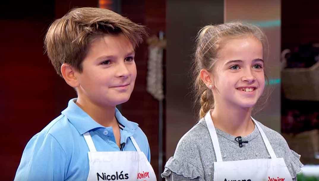 Aurora y Nicolás - MasterChef Jr. 8 © RTVE