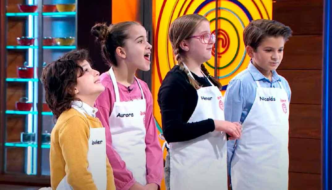 Aurora, Nicolás, Henar y Javier MasterChef Jr. 8 © RTVE
