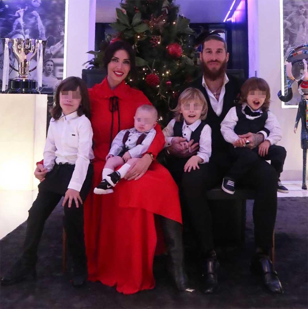 Pilar Rubio y Sergio Ramos con sus cuatro hijos © Instagram