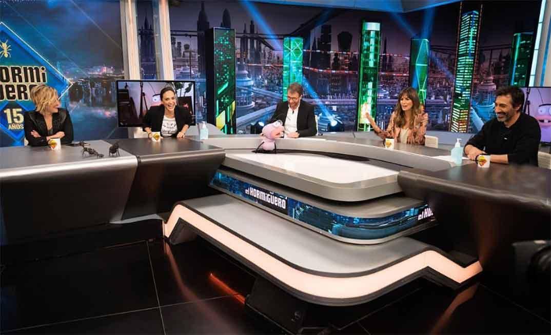 Tamara Falcó, Cristina Pardo, Nuria Roca y Juan del Val junto a Pablo Motos - El Hormiguero © Antena 3