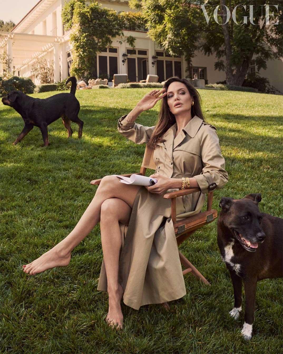 Angelina Jolie © britishvogue/Instagram